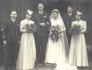 Irene and Mac on their wedding day